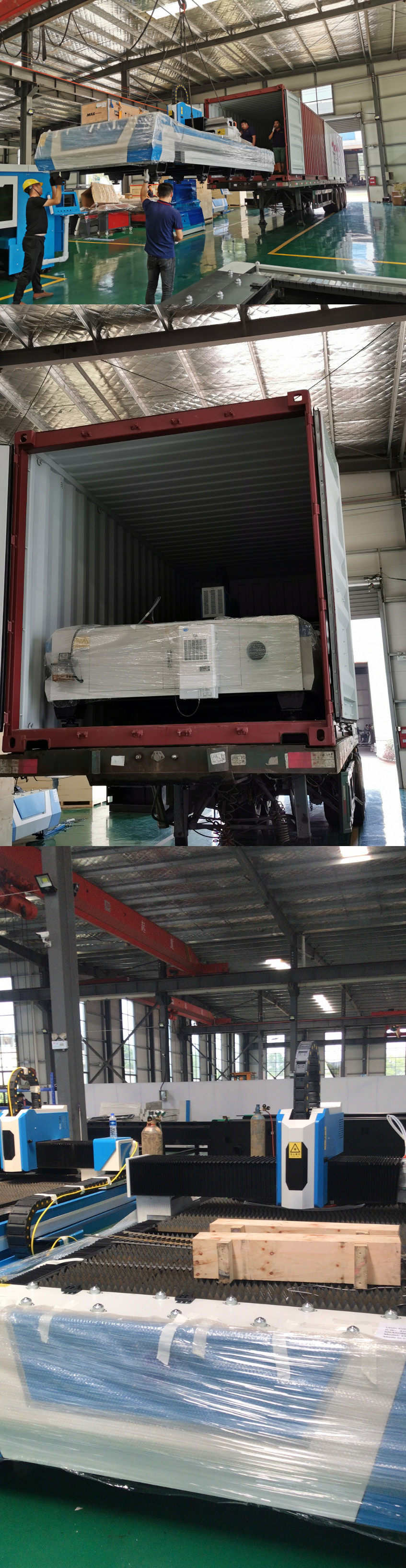 Laser cutting machine delivery to Greece
